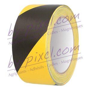 adhesif-marquage-sol-48mm-noir-jaune