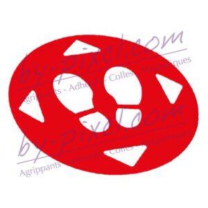 adhesif-marquage-sol-empreinte-rouge