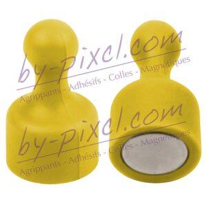 aimant-punaise-extra-fort-jaune