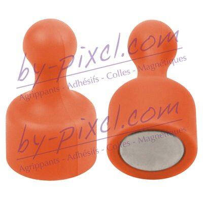aimant-punaise-extra-fort-orange