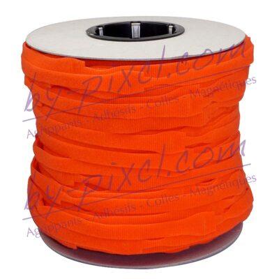 attache-cable-velcro-rouleau-orange