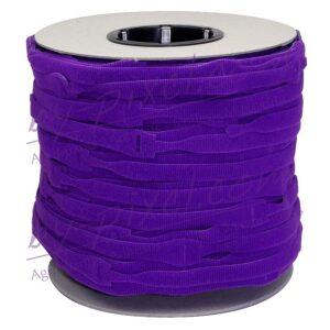 attache-cable-velcro-rouleau-violet