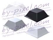 Butées adhésives carrées Pixcl