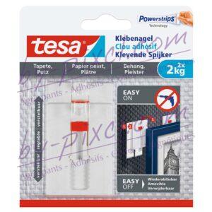 tesa-powerstrips-delicate-clou-adhesif-ajustable-papier-peint-platre-2kg