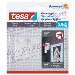 tesa-powerstrips-delicate-clou-adhesif-papier-peint-platre-0-5kg