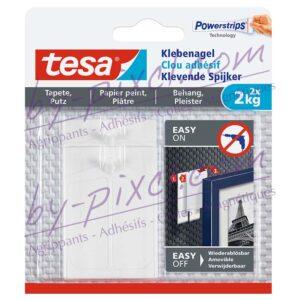 tesa-powerstrips-delicate-clou-adhesif-papier-peint-platre-2kg