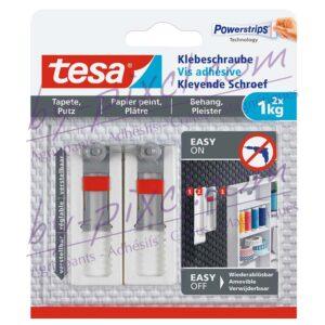 tesa-powerstrips-delicate-vis-adhesive-ajustable-papier-peint-platre-1kg
