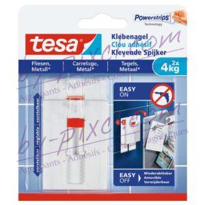 tesa-powerstrips-lisse-clou-adhesif-ajustable-carrelage-metal-4kg