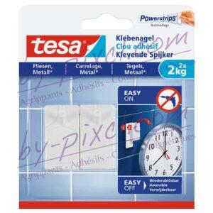 tesa-powerstrips-lisse-clou-adhesif-carrelage-metal-2kg