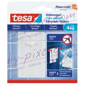 tesa-powerstrips-lisse-clou-adhesif-carrelage-metal-4kg