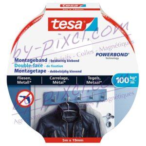 tesa-powerstrips-lisse-double-face-de-fixation-carrelage-metal-100kg-5mx19mm