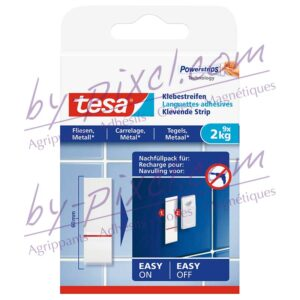 tesa-powerstrips-lisse-languettes-adhesives-carrelage-metal-2kg