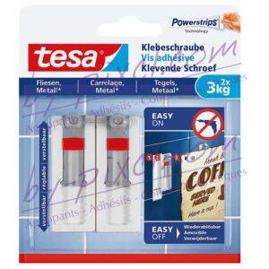 tesa-powerstrips-lisse-vis-adhesive-ajustable-carrelage-metal-3kg
