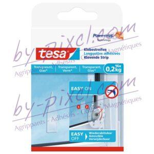 tesa-powerstrips-transparente-et-verre-languettes-adhesives-0-2kg