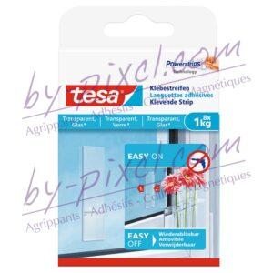 tesa-powerstrips-transparente-et-verre-languettes-adhesives-1kg