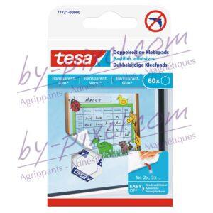 tesa-powerstrips-transparente-et-verre-pastilles-adhesives-double-face
