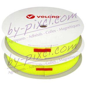 velcro-adhesif-ps14-jaune-fluo-boucle-crochet